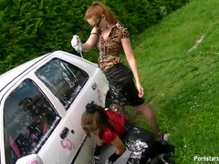 Eurobabes Take Car Washing Very Seriously