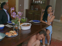 Kira Noir puts her daughter's boyfriend to a test