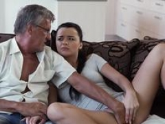 DADDY4K. Lustful girl Erica Black seduces BFs dad to have an intercourse her vagina