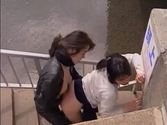 Charming asian lady got pounded very hard in public