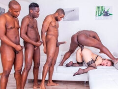 Liberta Black Debuts with Extreme Interracial Gangbang