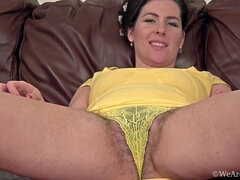 Hairy woman Sharlyn has an appointment and orgasm