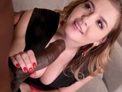 Hard Core interracial affair with Candy Alexa