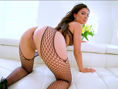 Jynx Maze gagging & slobbering on dick before pov butt fuck