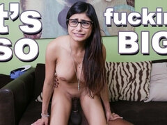 MIA KHALIFA - Big Titty Arab cutie is Afraid of the Big Black chopper