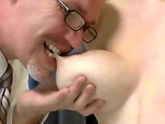 Boobalicious chunky redhead fails a medical exam & gets punished with extreme spanking