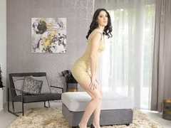 Only3x Babes presents - Tall pinup Meri Kris making out with