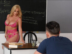 Savannah Bond motivating her student with a big tits and juicy cunt