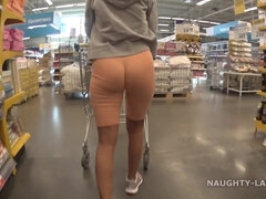 NaughtyLada - Ltoe And Flashing In The Supermarket - Milf