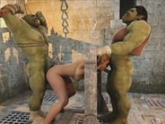 3D Hoes Annihilated by Brutal Orcs!