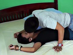 Ethnic filipino teenage bum bareback pounded