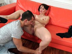 Insatiable grown-up is satisfied by young dude's love pole