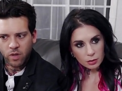 Excited Undersized Babysitter Auditions for Joanna Angel & BF