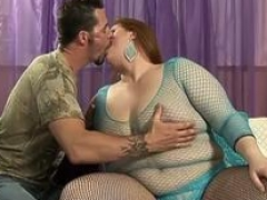 Real bbw Julie Ann More Hard Anal Fucked In Fishnet Dress