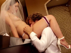 Guy and his bride have passionate sex before wedding