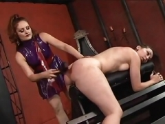 Lesby restrains her slave girl