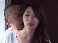Skinny girl from Japanese vilage makes love with pervert daddy