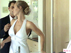 sumptuous blonde bride Nicole Aniston porking