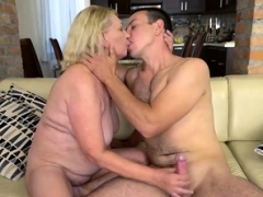 Mature Blonde Fucked by a Stud