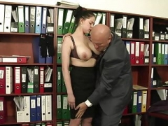 Large Saggy Tits Italian Secretary Gets down and dirty The Boss
