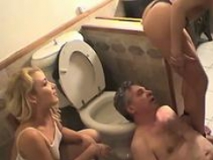 Aroused chick sucks dick
