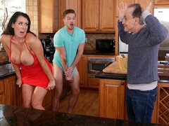 Busty chick Reagan Foxx is getting rammed by a hard cock