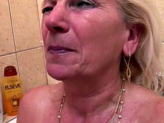 Mature mom and furthermore grannies piss and furthermore fucks youthful son