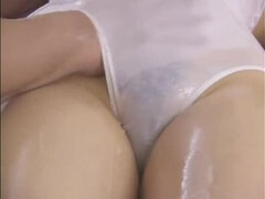 Alluring girl having a wonderful face cumshot