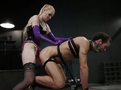Svelte Blonde Dom Punishes & Gets down and dirty Slave