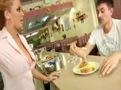 Sophie Dee Thick-Facialed Waitress