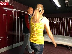 German Horny Wife Cheats on Her Husband in the locker room