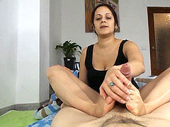 aunt-in-law providing a Footjob