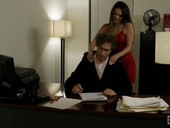 Passionate doll with big bottom Athena Faris screwed in the office