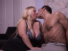 A fat dame that has sizeable tits and also a big belly is getting fucked