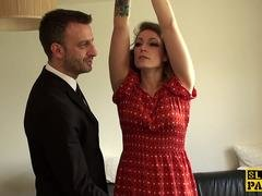 British submissive Ava Austen facefucked hard