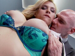 Sexy secretary fucked by her mature boss
