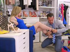 Trying shoes female gets fucked by handsome sales assistant