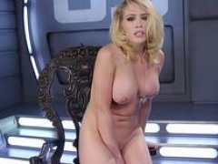 Love bubbles blonde in high heels gets down and dirty machine