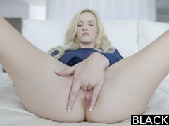 Tiny Blonde Teen Takes Huge Black Cock!