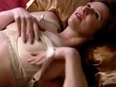 Mature with hooters and plus hairy cunt masturbates with vibrator