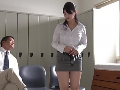 JAV star turned teacher Rei Mizuna striptease Subtitled