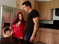 Red hood Angela White gets fucked hard takes facial at her granny's house