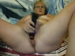 blond haired mature nympho used huge toy