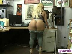 Big tush and plus big tits lady railed hard by pawn keeper