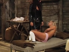 Slaves Homecoming: Pinioned Beauty Groped And Humiliated
