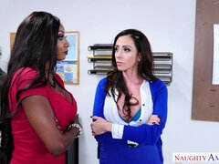 My First Sex Teachers Ariella Ferrera & Diamond Jackson - interracial threesome in the classroom