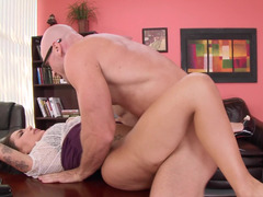 Modest Lela Star and besides self-confident Johnny Sins bang in office