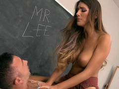 August Ames is the hottest fuck pole riding schoolgirl
