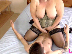 mbacksideive ass grannie rides face and cock