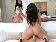 Peta Jensen had to accept a threesome